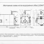Монтажная схема котла КВ-2.5