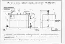 Монтажная схема котла КВа-0,8р